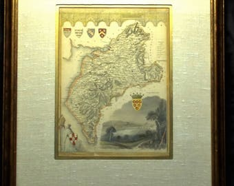Northern England  Map Frame and Matted