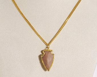 arrowhead jewelry,arrowhead pendant arrowhead necklace,gold arrow necklace, arrow necklace, arrow necklace gold, stone necklace,holiday gift