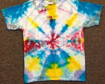 Funky Tie Dye Youth T-Shirt size Large K048