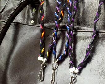 Custom Team Colors Leather lanyard ID badge holder