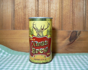 Vintage Schell's Xmas Brew Beer Can Candle, beer scented candle, soy candle