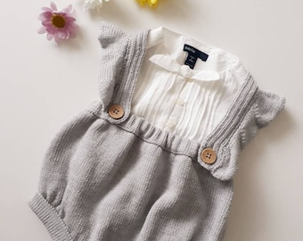 Baby girl clothes, knitted baby clothes, baby girl gift, baby girl photo outfit, baby bloomers, vintage baby, baby shower gift