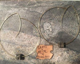 Brass & Pyrite Earrings