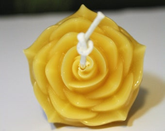Floating Beeswax Rose Candle | Beeswax Flower Candle | Floating Candle | Meditation Candle | Wedding Candle