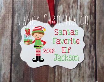 Personalized Christmas ornament, Elf Ornament,  Christmas Ornament, Christmas Gift, Personalized Ornament, Aluminum Ornament