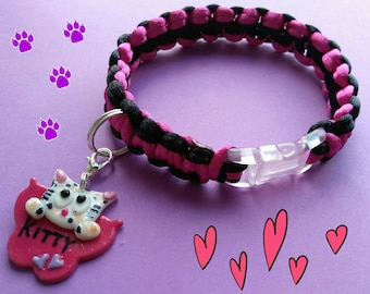 Pet Collar, cats and dogs with custom said according to your pet
