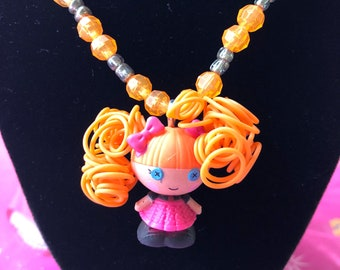 Mini Lalaloopsy Spaghetti Hair Toddler and Child Necklace - Affordable kids jewelry - Kids Jewelry - Lalaloopsy Necklace