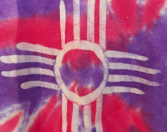 Batik tie dye ladies Tee Shirt revived faded glory Tee