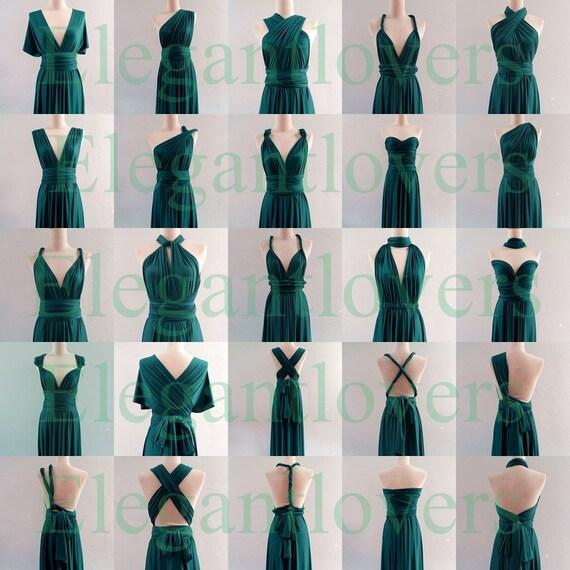 Infinity Wedding Dress Larimeloom: Infinity Dress Teal Wedding Bridesmaid Wrap Convertible