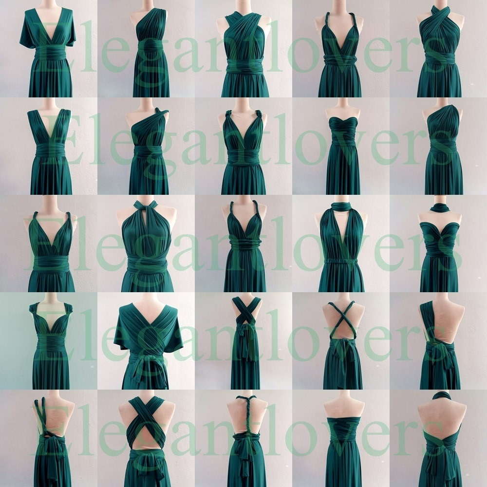 Infinity dress teal wedding bridesmaid wrap convertible zoom ombrellifo Image collections