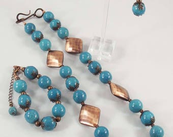 Turquoise & Copper - Vintage Inspired 3 Piece Set
