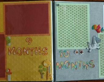 Baby's 1st year - 12x12 scrapbook Customized
