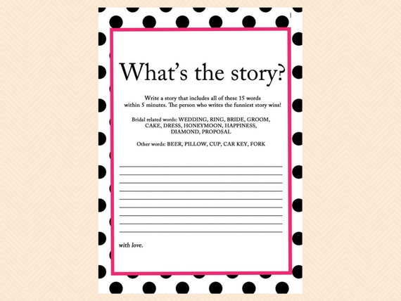Beautiful Whatu0027s The Story Write A Story Funny Story Game Black