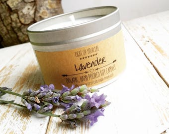 Lavender Soy Candle, Aromatotherapy, Lavender Candle, Soy Candle, Scented Candle, Soy Wax Candle, Organic Candle, Vegan Candle
