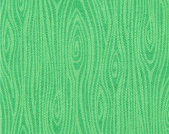 215835 green Michael Miller fabric Just Wood Knot