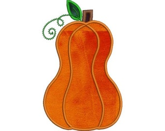 Tall Applique Pumpkin Fall Autumn Halloween Embroidery Designs 4X4 and 5X7 Included - Instant Download Sale