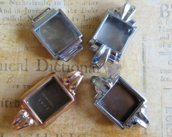Watch cases - Steampunk Supplies -Vintage  Watch parts - Silver and gold - watch Cases with crystals -  Steampunk - Scrapbooking  X75