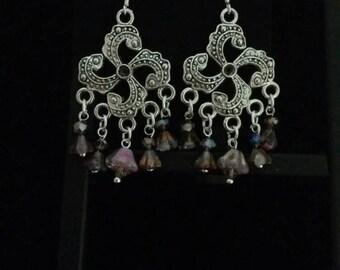 CLEARANCE * Czech Glass Chandelier Earrings