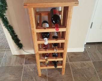 Hand crafted 10 bottle Wine Rack