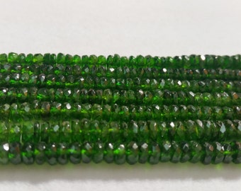 "Half Strand Chrome Diopside faceted Roundel 5mm , Very good quality in 7.5"" Length"