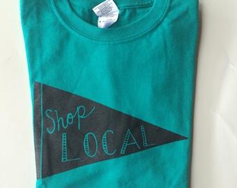 Shop Local T-Shirt, Screen Print T Shirt, Shop Small