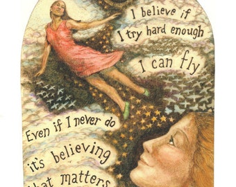 inspirational encouragement flying giclee reproduction print