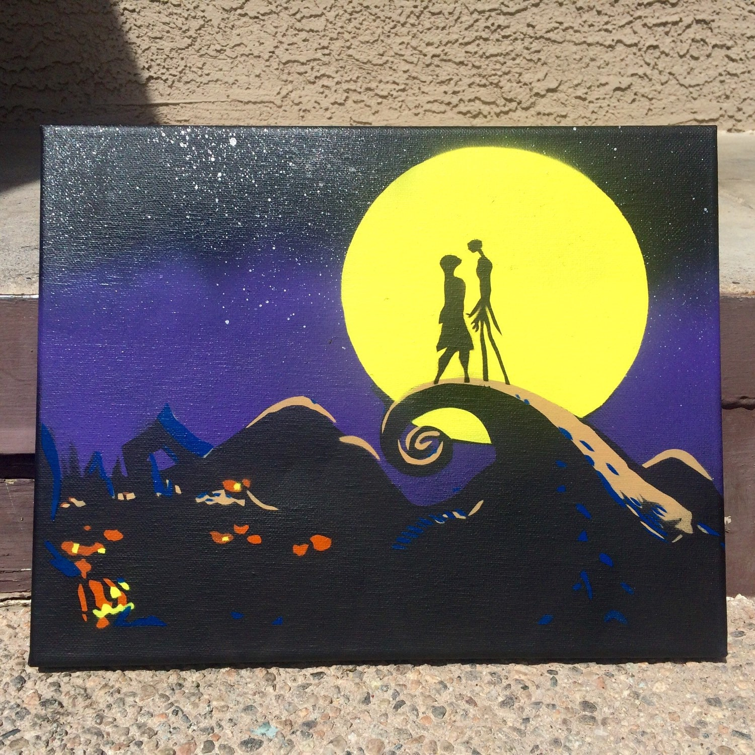 Nightmare Nightmare Before Christmas Stencil Art Painting on