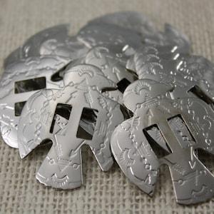 Silver Thunderbird Conchos (6 pieces)