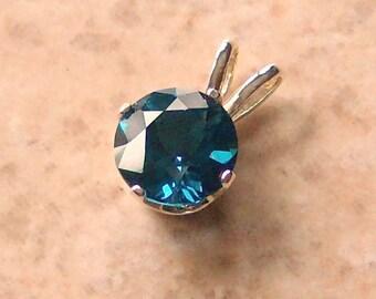 Genuine London Blue Topaz Sterling Silver Pendant, Cavalier Creations