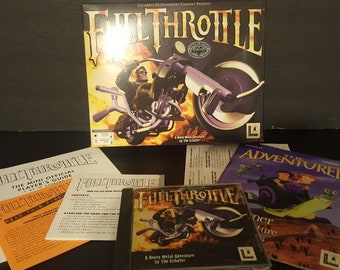 Full Throttle Limited Edition PC Big Box Rare