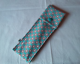 Toothbrush case turquoise blue and Red / gray
