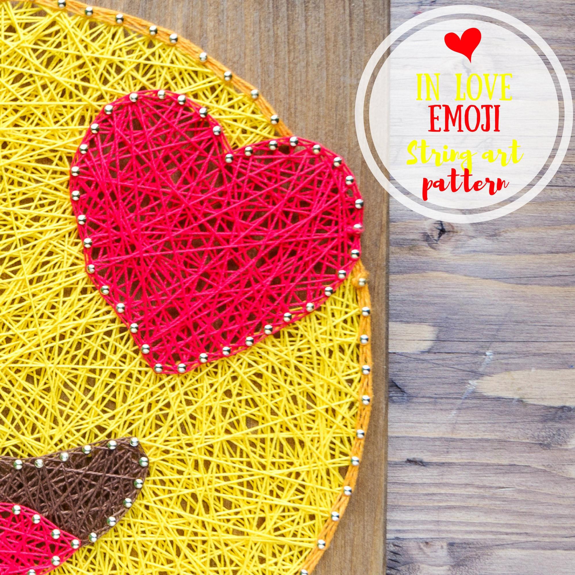LOVE EMOJI, string art diy string art pattern digital download, 7.9 ...