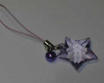 Strikingly Beautiful Purple Star to Guide Your Way - Keychain/Cell Charm/Zipper Pull