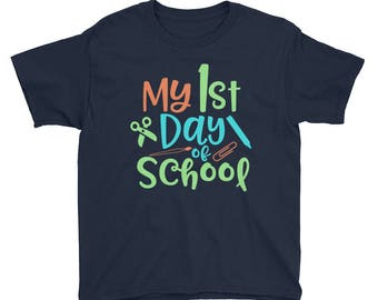 Boys & Girls 4T-5T 1st Day of School Kids Shirt