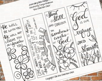 Bible Journaling:  Stand Still and Consider Downloadable Coloring Printable