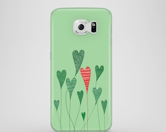 Growing Hearts mobile phone case / Samsung Galaxy S7, Samsung Galaxy S6, Samsung Galaxy S6 Edge, Samsung Galaxy S5 / mothers day gift