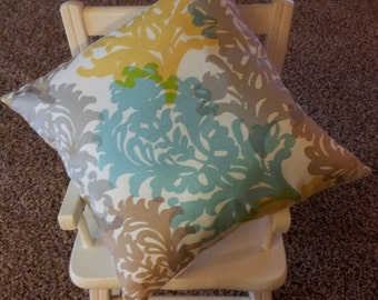 """Pillow Cover - 16"""" x 16"""" Waverly Fabric"""
