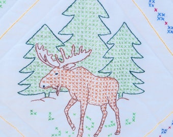 Woodland/Outdoors Baby Blanket- RTS
