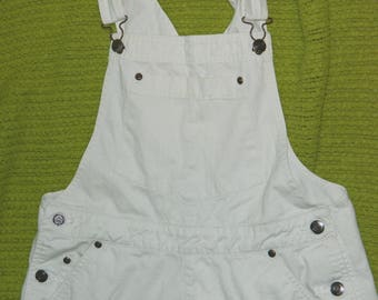 Womens Classic St Johns Bay Brand Khaki Overall Shorts Medium / 30-32x4