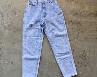 Lee Riders Acid Wash 80s 90s Vintage Jeans 29x30 High Waist Tapered Leg Denim Bluejeans USA Made