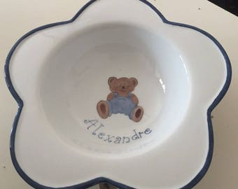 newborn baby gift plate