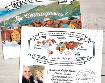 50-100 Postcards - Special COnvention 2018 - Norway - JW special convention gifts - Special Convention Norway - Convention Pins & Pens