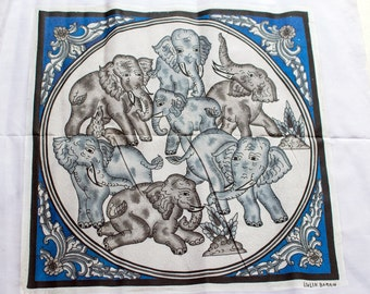 Sand pictures from Burma Myanmar handicrafts painting elephant