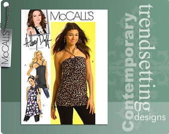 Out of Print!!!! McCalls M5585 Hilary Duff Misses Top and Tunic. Size 4-12 and 12-18.  Pattern new and uncut.