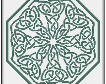 Knotwork Octagon Cross Stitch Pattern paper copy