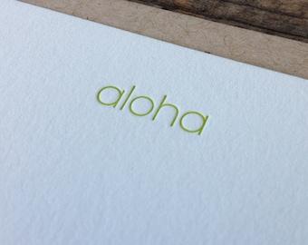 Aloha Letterpress Notecard Set of 10