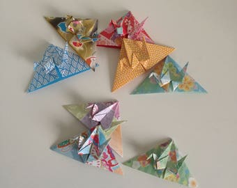 8 handmade origami little crane corner bookmarks