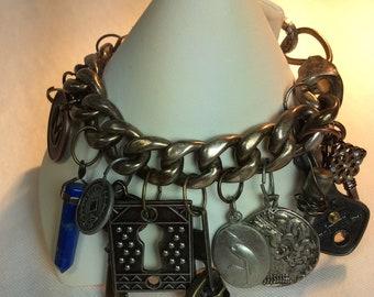 Industrial Steampunk Charm Bracelet