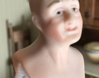 Miniature Older Bald Headed Man in One Inch Scale