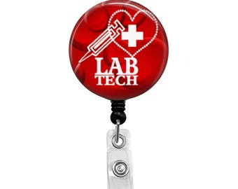 Lab Tech - Badge Reel Retractable ID Badge Holder